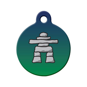 Labrador Inukshuk Circle Pet ID Tag