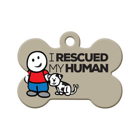 I Rescued My Human Bone Pet ID Tag