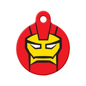 Ironman Fan Art Circle Pet ID Tag