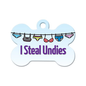 I Steal Undies Bone Pet ID Tag