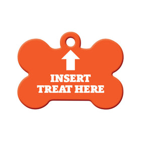 Insert Treat Here Bone Pet ID Tag