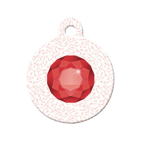 January Birthstone Circle Pet ID Tag