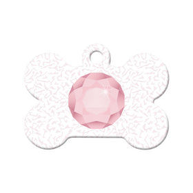 June Birthstone Bone Pet ID Tag