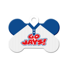 Go Jays! Baseball Tee Bone Pet ID Tag