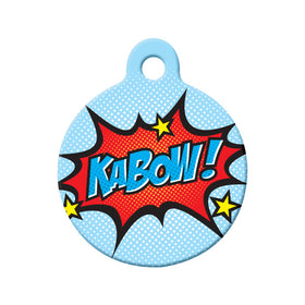 KaBow! Comic Style Circle Pet ID Tag