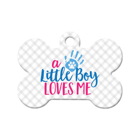 Little Boy Loves Me Bone Pet ID Tag