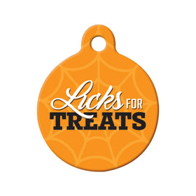 Licks for Treats Circle Pet ID Tag