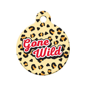 Gone Wild Circle Pet ID Tag