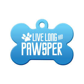 Live Long and PAWsper Bone Pet ID Tag