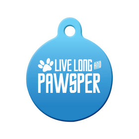 Live Long and PAWsper Circle Pet ID Tag