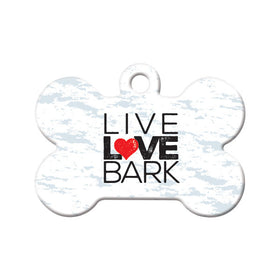 Live Love Bark Bone Pet ID Tag