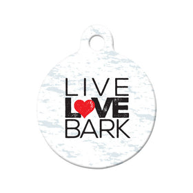 Live Love Bark Circle Pet ID Tag