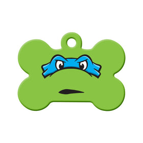 Leonardo TMNT Fan Art  Bone Pet ID Tag