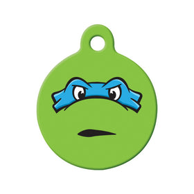 Leonardo TMNT Fan Art  Circle Pet ID Tag
