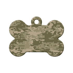 MultiCam Camouflage Pattern - Pet Tag Bone Pet ID Tag