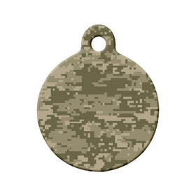 MultiCam Camouflage Pattern - Pet Tag Circle Pet ID Tag
