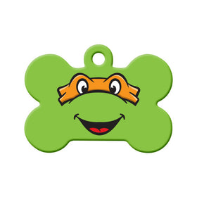 Michelangelo TMNT Fan Art  Bone Pet ID Tag