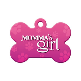 Momma's Girl (Pink) Bone Pet ID Tag