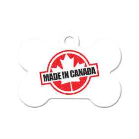 Made in Canada Bone Pet ID Tag