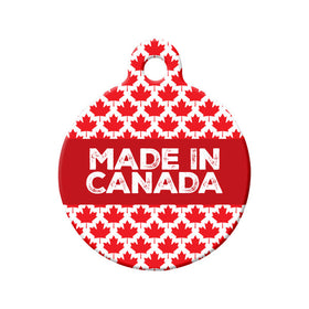 Made in Canada Circle Pet ID Tag