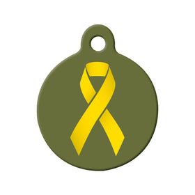 Military Awarness Ribbon Pet ID Tag