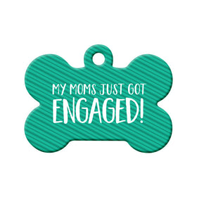 Engagement Announcement (Moms) Bone Pet ID Tag