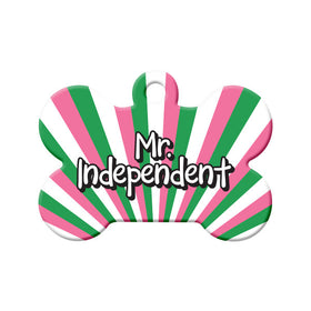 Mr. Independent Republic of NL Colors Bone Pet ID Tag