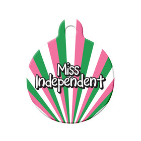Miss Independent Republic of NL Colors Circle Pet ID Tag