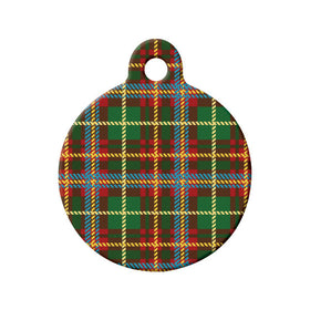 New Brunswick Tartan Pattern Circle Pet ID Tag
