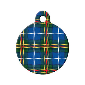 Nova Scotia Tartan Pattern Circle Pet ID Tag