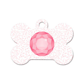 October Birthstone Bone Pet ID Tag