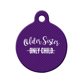 Soon-to-be Older Sister Circle Pet ID Tag