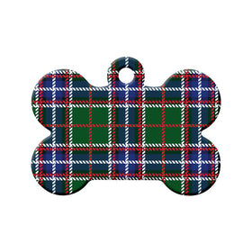 Ontario Tartan Pattern Bone Pet ID Tag