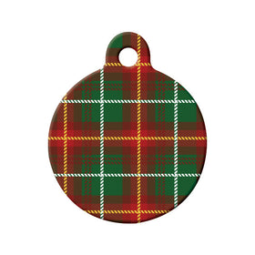 Prince Edward Island Tartan Pattern Circle Pet ID Tag