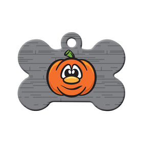 Pumpkin Bone Pet ID Tag