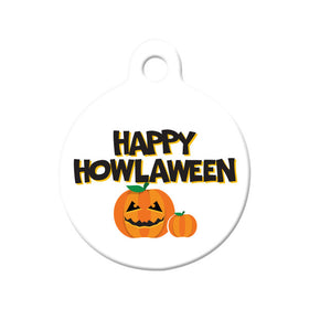 Happy Howlaween Pumpkin Circle Pet ID Tag