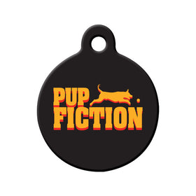 Pup Fiction Circle Pet ID Tag