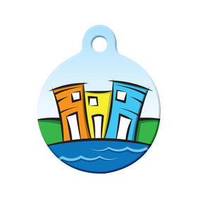 Newfoundland Rowhouses Circle Pet ID Tag