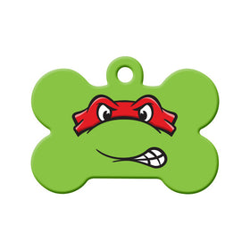 Raphael TMNT Fan Art  Bone Pet ID Tag
