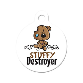 Stuffy Destroyer Circle Pet ID Tag