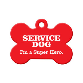 Service Dog Pet Tag Bone Pet ID Tag