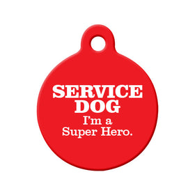 Service Dog Pet Tag Circle Pet ID Tag