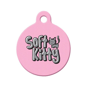 Soft Kitty Circle Pet ID Tag