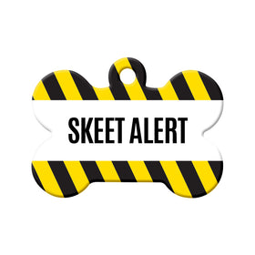 Skeet Alert Bone Pet ID Tag