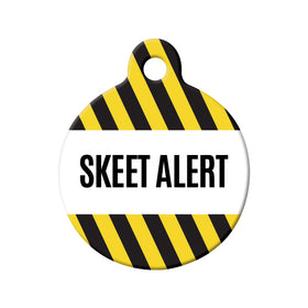 Skeet Alert Circle Pet ID Tag