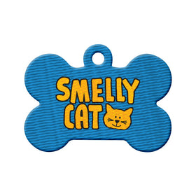 Smelly Cat Bone Pet ID Tag