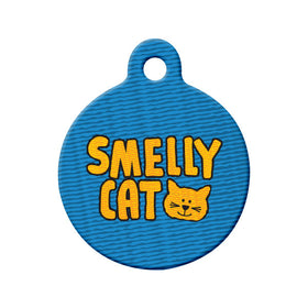 Smelly Cat Circle Pet ID Tag
