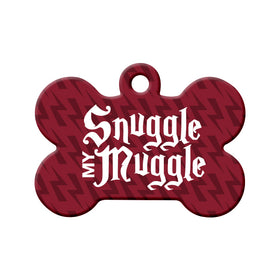 Snuggle My Muggle Bone Pet ID Tag