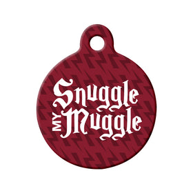 Snuggle My Muggle Circle Pet ID Tag