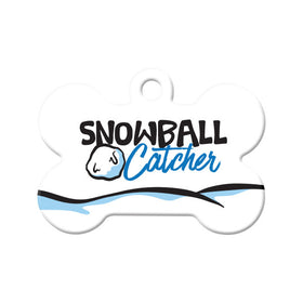 Snowball Catcher Bone Pet ID Tag